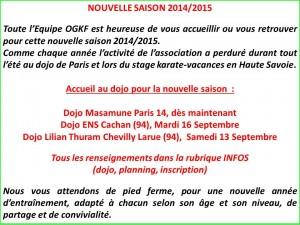 nouvelle saison 2014 2015